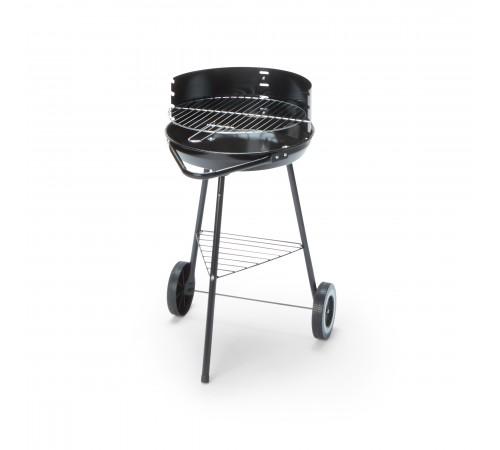 Barbecue da giardino con carrello in acciaio alimentato a carbonella