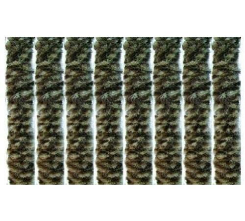 Tenda anti mosche per la casa in ciniglia 100 x 220 centimetri marrone maculata