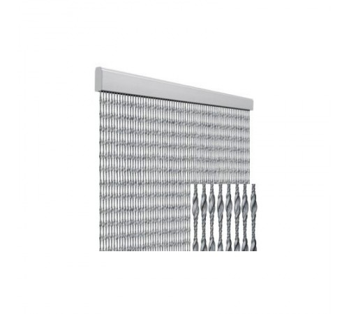 Tenda anti mosche per la casa 120 x 230 centimetri argento