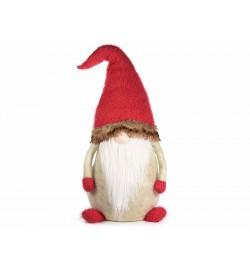 Babbo Natale da appoggiare in stoffa imbottita decorazione per il Natale