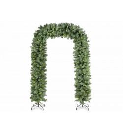 Arco Natalizio con rami di pino artificiali altezza 2,50 metri decorazione Natalizia per casa negozi e vetrine