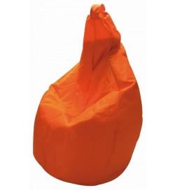 Poltrona a pera In nylon arancione pouf a sacco per interni ed esterni
