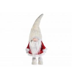 Babbo Natale decorativo con cappello dondolante in peluche altezza 90 centimetri