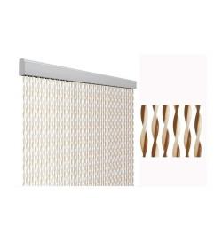 Tenda anti mosche per la casa 100 x 220 centimetri beige e marrone