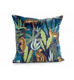 Cuscini sfoderabili fantasia giungla africana set da due cuscini