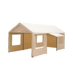 Gazebo garage per ricovero auto con finestre laterali 3 x 6 metri