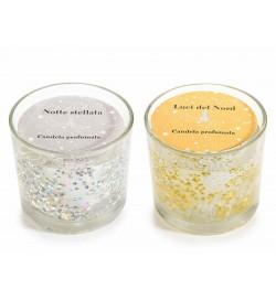 Candele aromatizzate in gel con glitter
