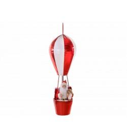 Babbo Natale decorativo da appendere su mongolfiera 80 centimetri