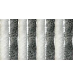 Tenda anti mosche in ciniglia per porte 56 x 185 centimetri bianca e grigia