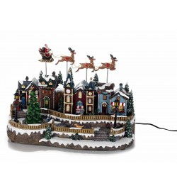 Carillon con tipico paesaggio Natalizio idea regalo per il Natale