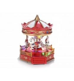Carillon giostra di cavalli girevole con suoni e luci