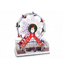 Carillon Natalizio ruota panoramica con suoni luci al neon e ruota in movimento idea regalo Natale