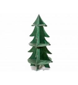 Albero di Natale in legno con ripiani per casa e negozi