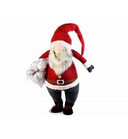 Babbo Natale alto 1,20 metri con sacco doni apribile e riempibile