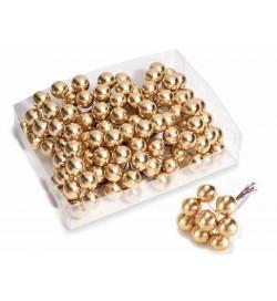Bacche Natalizie dorate set da 192 bacche per decorare casa e pacchi regalo