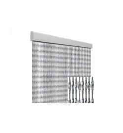 Tenda anti mosche per la casa 100 x 220 centimetri argento