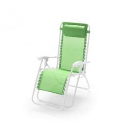 Sdraio relax inclinabile e pieghevole per casa e giardino con braccioli