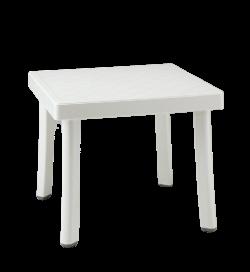 Tavolino d'appoggio per giardini e piscine bianco 46 x 46 centimetri