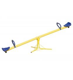 Altalena da giardino Sali e scendi per bambini in acciaio giallo e blu