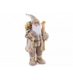 Babbo Natale da vetrina con abito marrone altezza 1,15 metri per casa vetrine e negozi