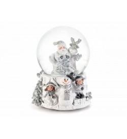 Carillon Natalizio vintage palla di neve con Babbo Natale e neve in movimento idea regalo