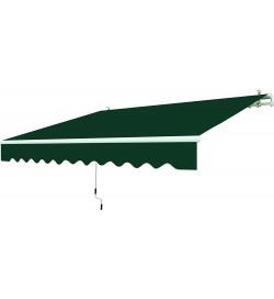 Tenda da sole a bracci retrattili 250 x 200 centimetri color verde