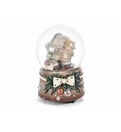 Carillon Natalizio a forma di palla di neve