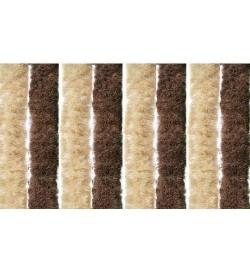 Tenda anti mosche per la casa in ciniglia 100 x 220 centimetri marrone e beige