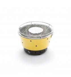 Barbecue da tavolo compatto e portatile senza emissione di fumi color giallo