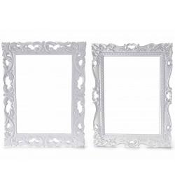 Cornici da parete in legno bianco Shabby Chic set da 2 cornici foto da appendere