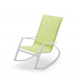 Sedia a dondolo da giardino con braccioli seduta color lime