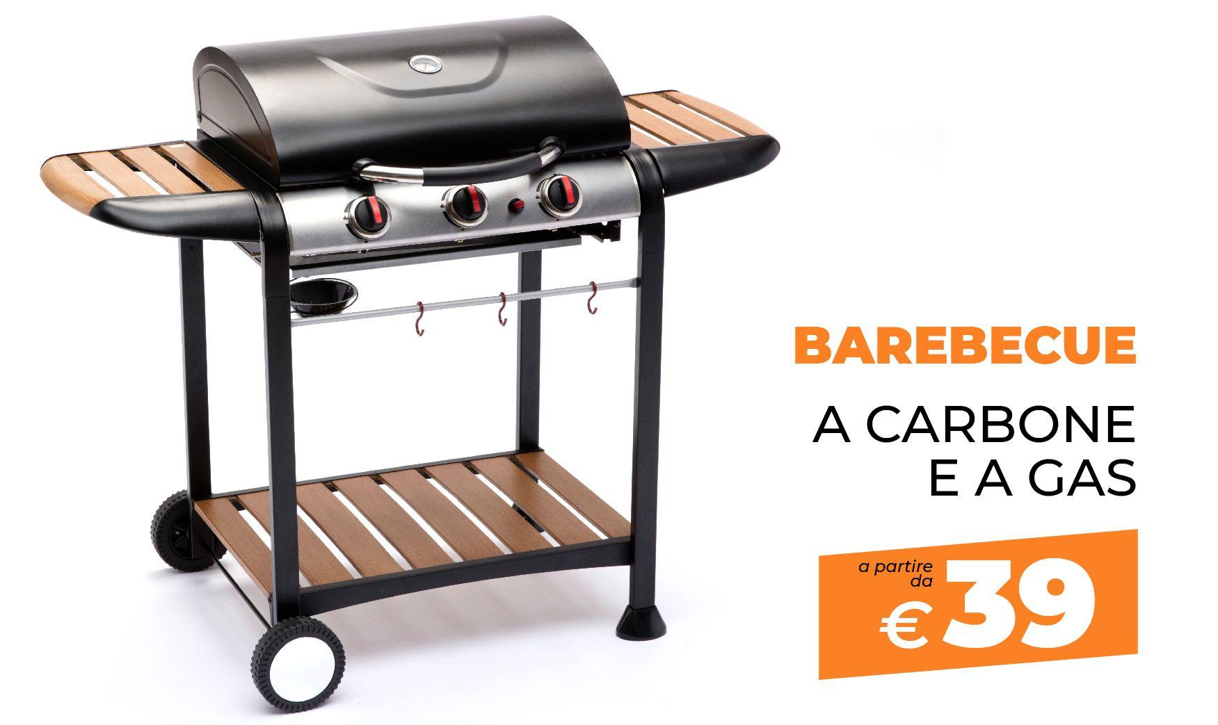 barbecue a gas e a carbone